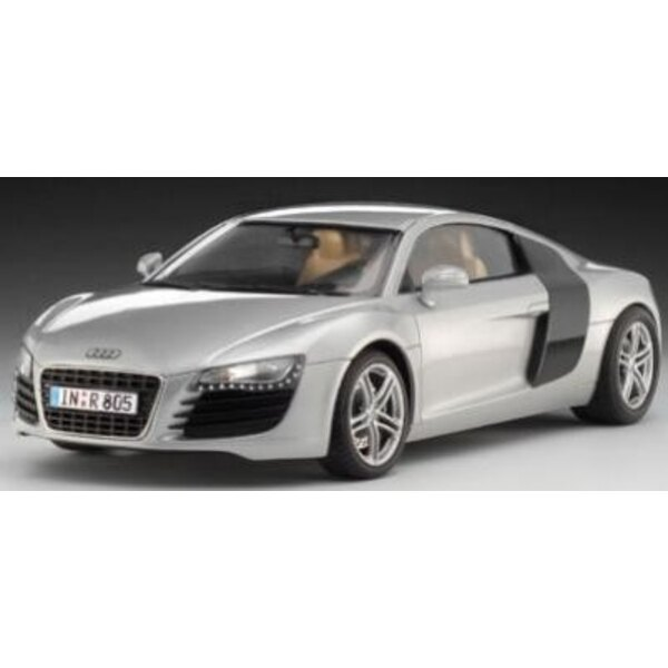 Audi R8 Model Set - box containing the model, paints, brush and glue