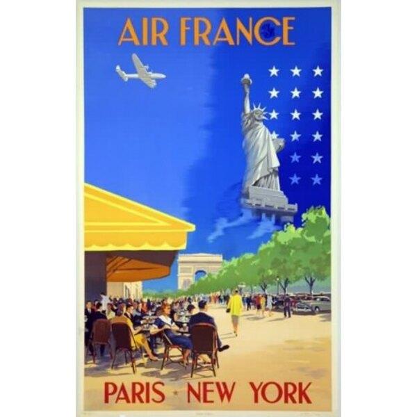 Air France - Paris New York - V.Guerra 1951