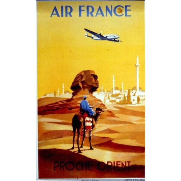 Air France - Proche Orient -V.Guerra 1950