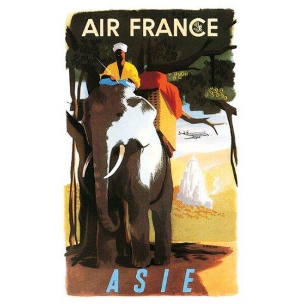 Air France - Asie - A.Golven 1950