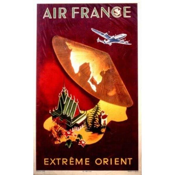Air France - Extrême Orient - G.Dumas 1950