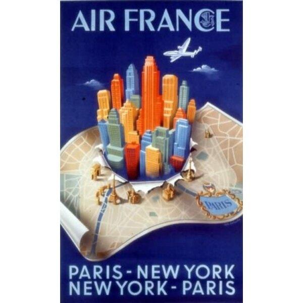 Air France - Paris-NY-Paris - A.Dehedin 1950