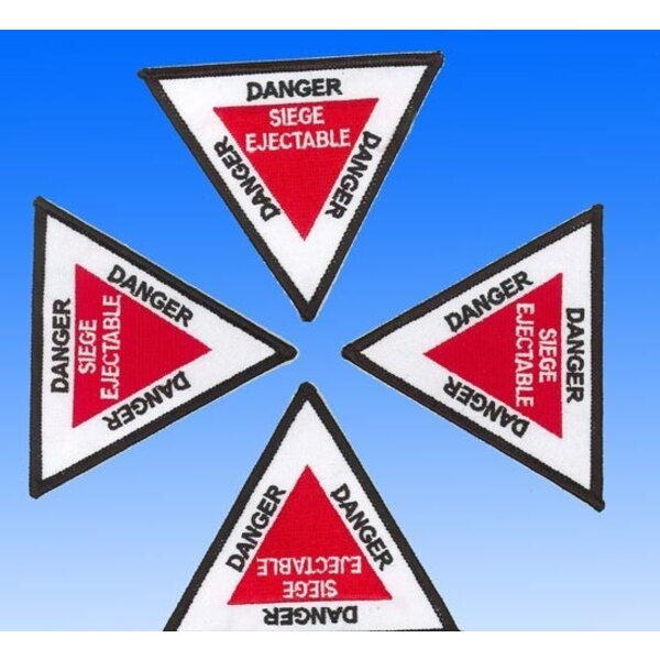 Patch Danger Siège Ejectable - Triangle Ecusson brodé - Pilot's Station Product 34A