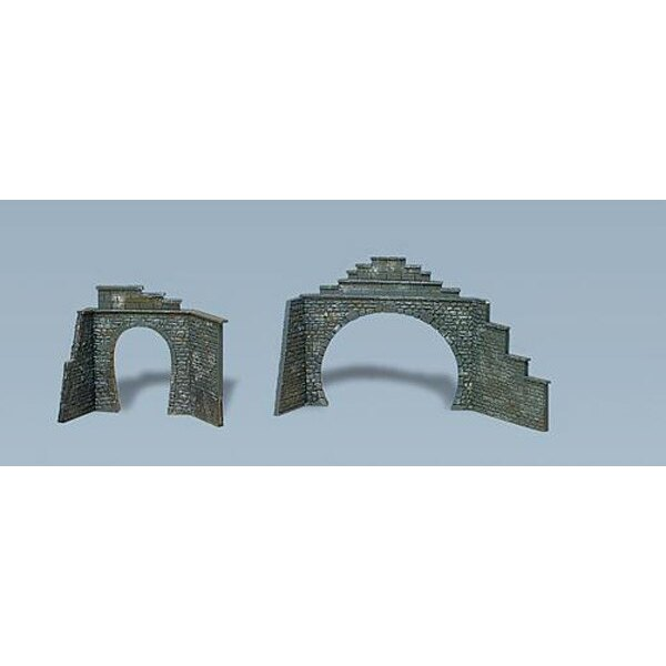 Set of tunnel portals