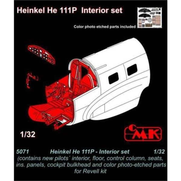Heinkel He 111P Interior set (designed to be used with Revell kits)