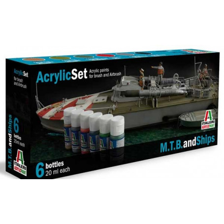 Warships painting set