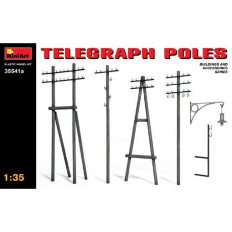 Telegraph Poles. This kit contains 124 parts