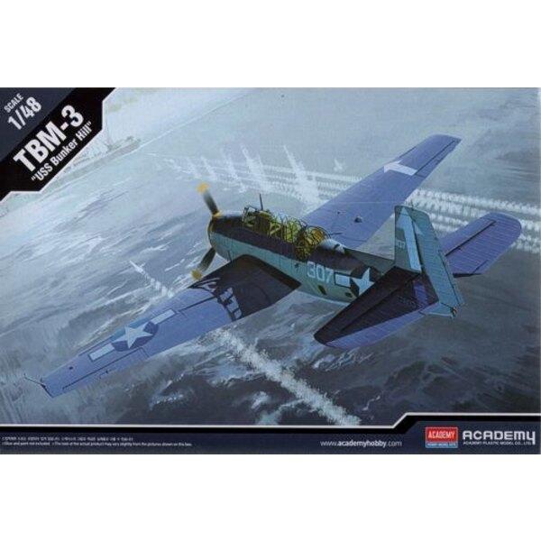 """Grumman TBM-3 Avenger """"USS Bunker Hill"""" (Accurate Miniatures)"""
