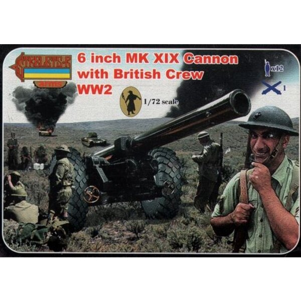 6 Inch Mk.XIX Cannon with British Crew (WWII) Strelets Arms sets