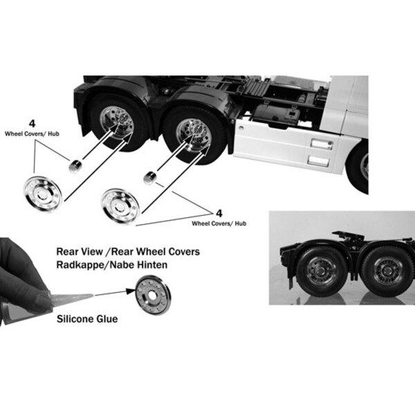 Trim chrome wheels (6)