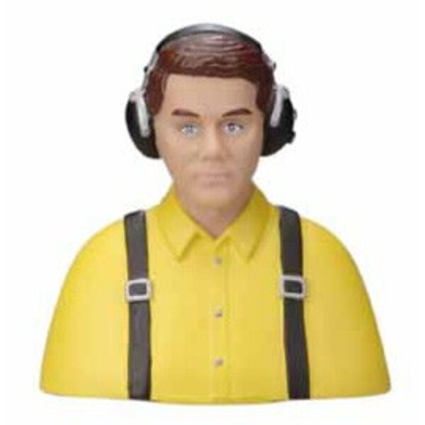 BUST OF CIVIL PILOT PAINTED YELLOW - 13