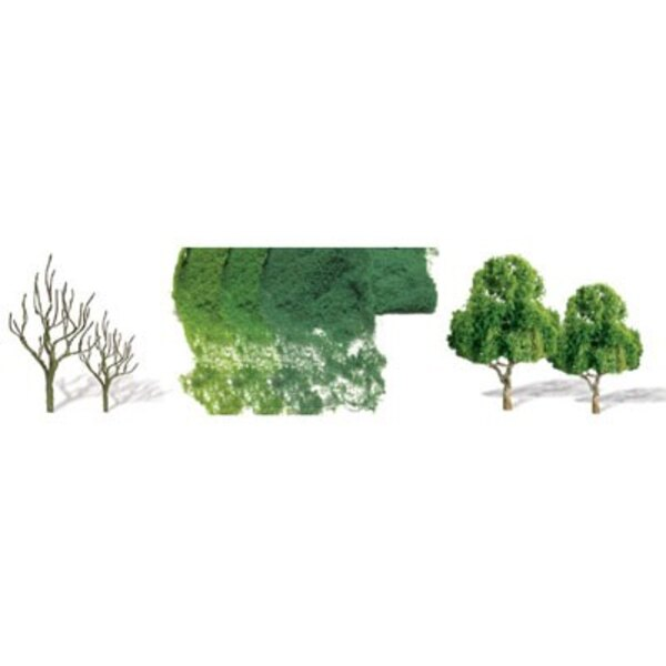 Deciduous trees 37 to 75mm - N SCALE