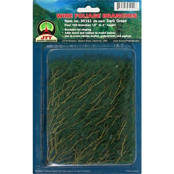 BRANCHES OF FOLIAGE GREEN MEDIUM 37 to 75mm