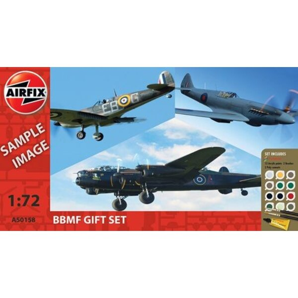 Battle Of Britain Memorial Flight (BBMF) Collection (gift or starter set with paints, paint brush and poly cement)
