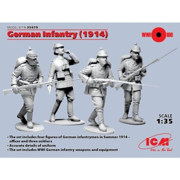 German Infantry 1914 (Figures 4 x)