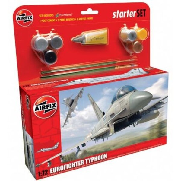 Eurofighter Typhoon. Set includes 6 Acrylic paints 2 brushes and 1 poly cement
