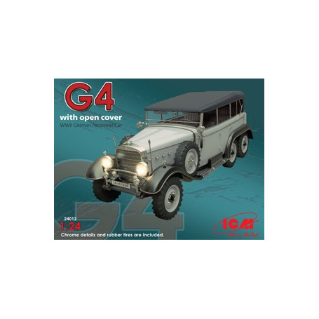 Type G4 with open cover , WWII German Staff Car