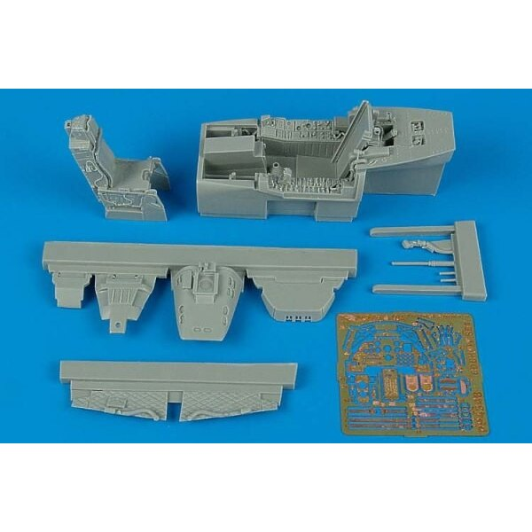 Fairchild A-10A Thunderbolt II cockpit set (designed to be assembled with model kits from Italeri)