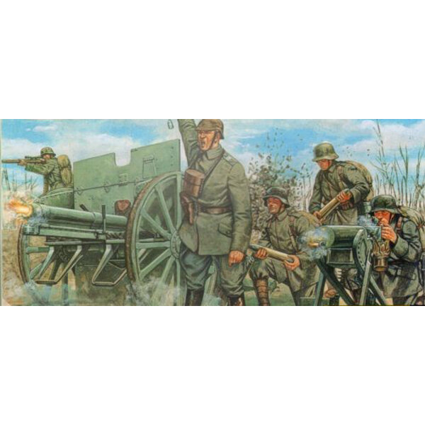 WWI German Artillery & 76mm cannon