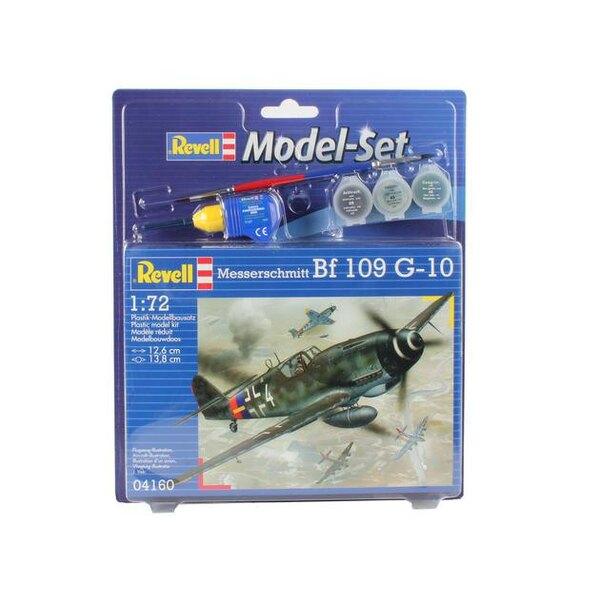 Messerschmitt Bf 109 Set - coffret contenant la maquette, les peintures, pinceau et colle