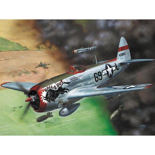 """Republic P-47D Thunderbolt à verrière de 'Bubbletop'. Nose Art """"Balls Out"""""""