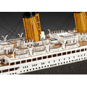 R.M.S Titanic 100th Anniversary Edition Includes 6 paints glue and brush 3 postcards Replica menu and Replica promotional brochu