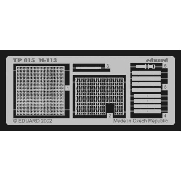 M113 grills (designed to be assembled with model kits from Tamiya)