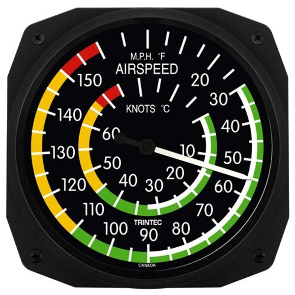 Airspeed Classic Wall Thermometers & C ° F 25x25cm