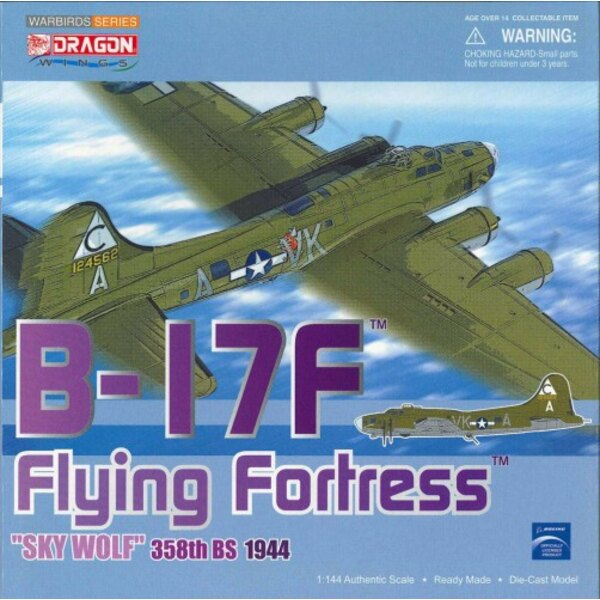 B-17F Flying Fortress 358th BS Sky Wolf