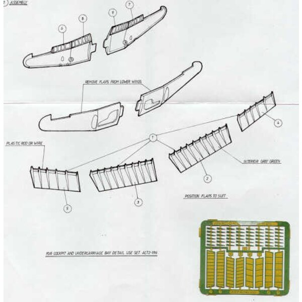 Hawker Typhoon Flaps (designed to be assembled with model kits from Airfix)