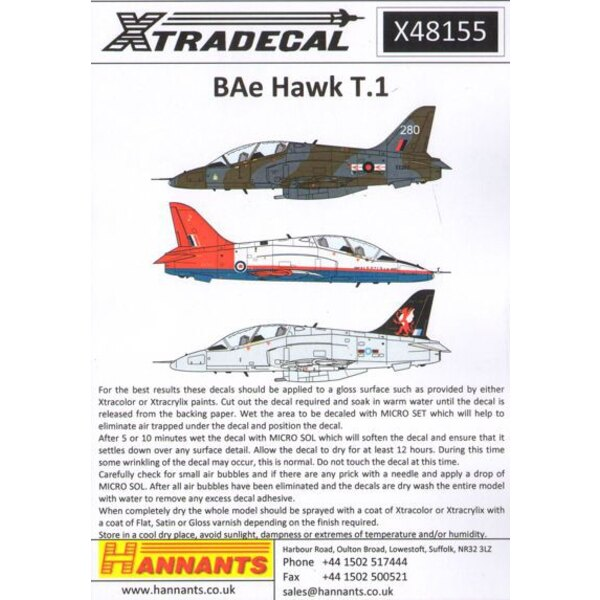 BAe Hawk T.1/T.1A (27) Was X48047 now reprinted with correction for ETPS and bonus fin markings for 2014 Red Arrows. The ultimat