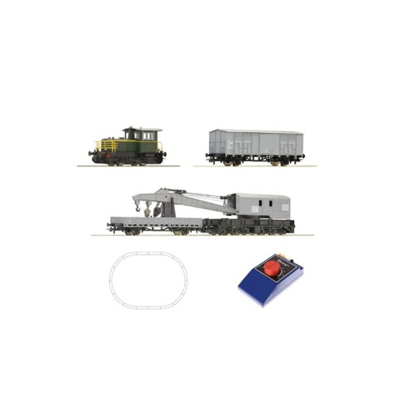 Analogue Starter Set: Diesel locomotive D.214 and crane train, FS
