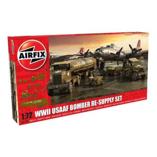 USAAF Bomber Re-supply Set. Autocar U-7144-T 4X4 tractor unit and F-1 fuel trailer. B-17 not included.