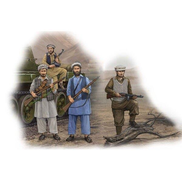 Afghan Rebels x 4 figures, 12 rifles