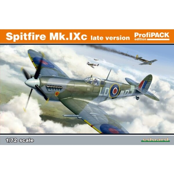 Supermarine Spitfire Mk.IXc late version. Very first release of kit from Eduard tool made in 2016, decals printed by Eduard, PE