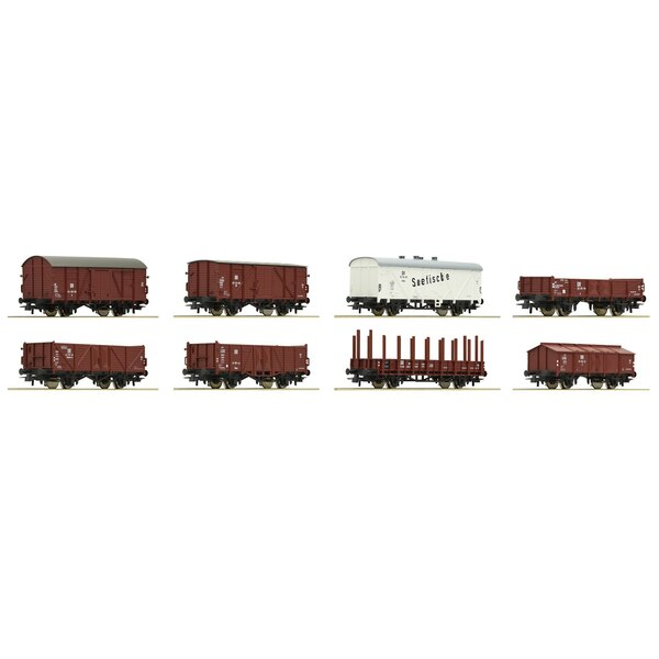 8-piece set freight cars, DR