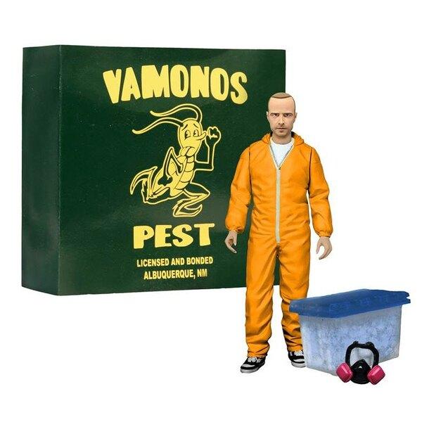 Breaking Bad Deluxe Action Figure Jesse Pinkman in Orange Hazmat Suit heo Exclusive 15 cm