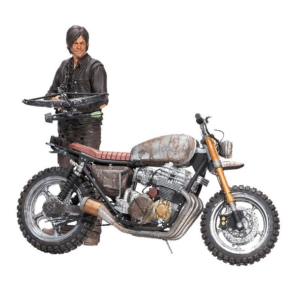 The Walking Dead Deluxe Action Figure Daryl Dixon with Chopper Season 5/6 25 cm
