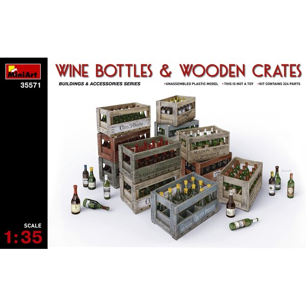 Wine, Beer, Milk Bottles Wooden Boxes