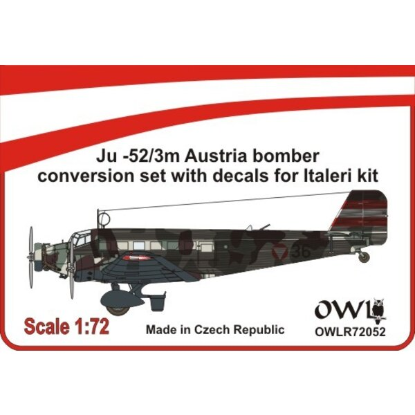 Junkers Ju-52/3m Austrian nightbomber conversion set (designed to be used with Italeri kits)