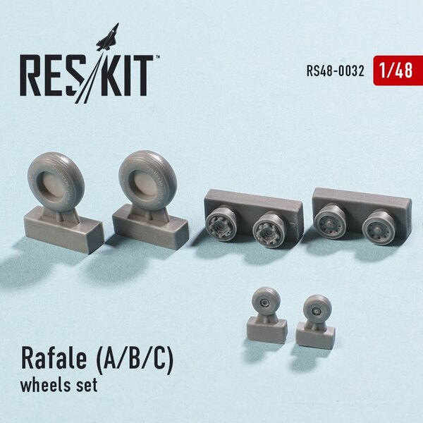 Dassault Rafale A/B/C wheels set ( designed to used with Hobby Boss and Revell kits)